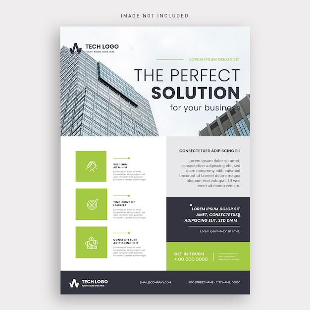 Sjabloon voor modern zakelijke folder Gratis Vector