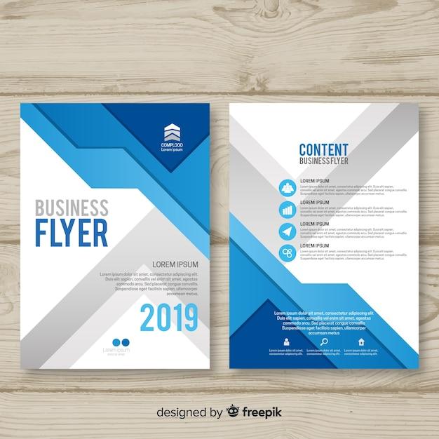 Sjabloon voor moderne zakelijke flyer Gratis Vector