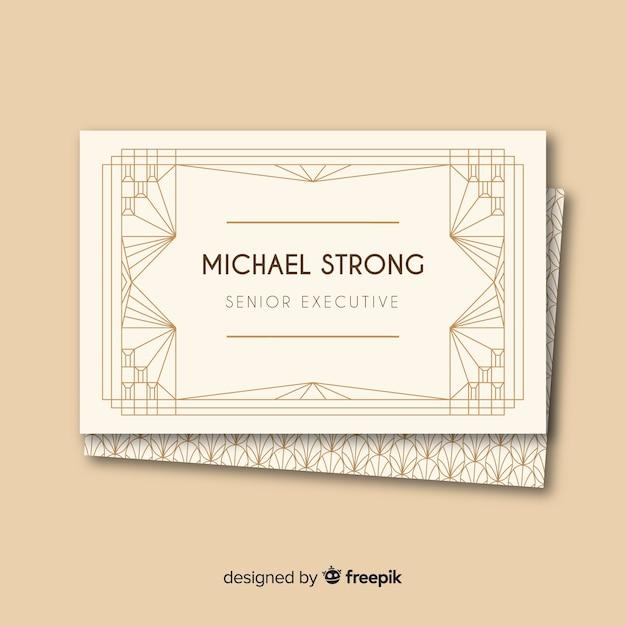 Sjabloon voor platte elegante visitekaartjes Gratis Vector