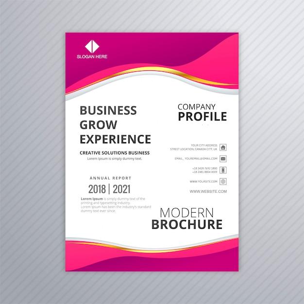 Sjabloon voor professionele zakelijke flyer Gratis Vector