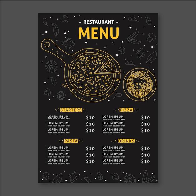 Sjabloon voor restaurant menu concept Gratis Vector