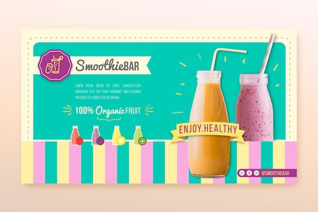 Sjabloon voor spandoek biologische smoothie bar detox Gratis Vector