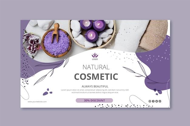 Sjabloon voor spandoek cosmetica met foto Gratis Vector