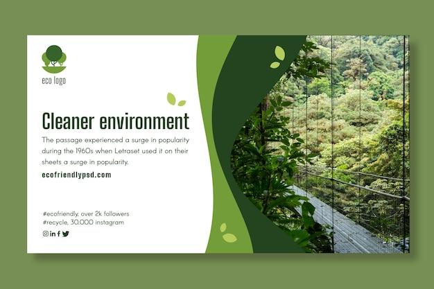 Sjabloon voor spandoek ecologie Premium Vector