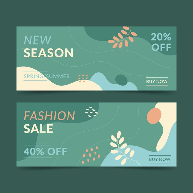 Sjabloon voor spandoek mode verkoop Gratis Vector