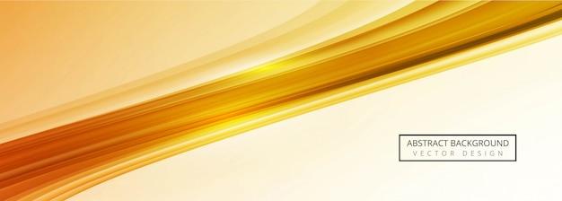 Sjabloon voor spandoek moderne gouden golf Premium Vector