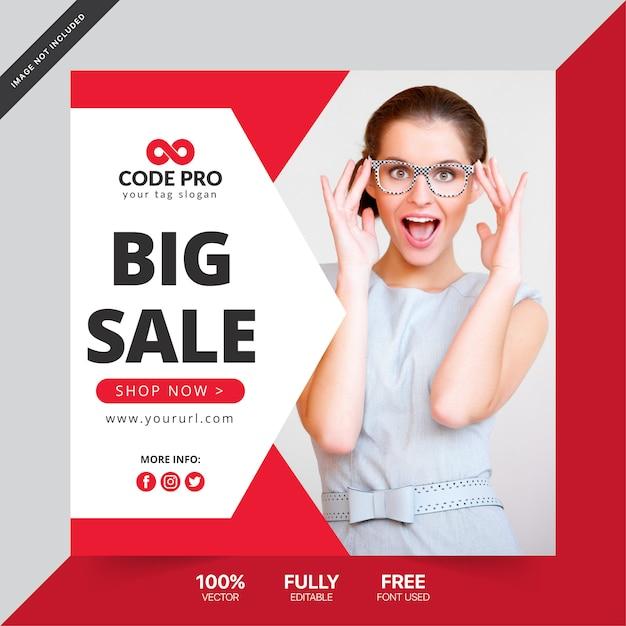 Sjabloon voor spandoek moderne verkoop Premium Vector