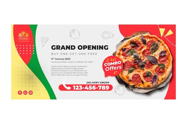 Sjabloon voor spandoek pizza restaurant Premium Vector