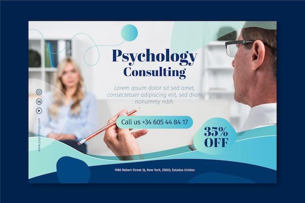 Sjabloon voor spandoek psychologie Premium Vector