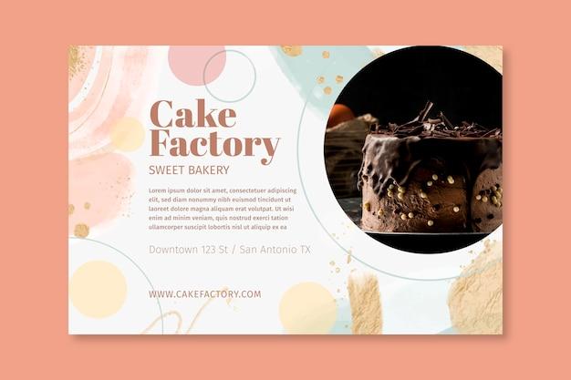 Sjabloon voor spandoek van cakefabriek Gratis Vector