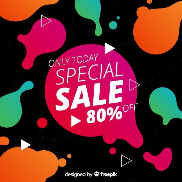 Sjabloon voor spandoek van de abstracte verkoop promotie Gratis Vector