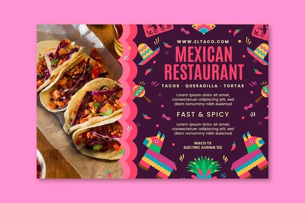 Sjabloon voor spandoek van mexicaans restaurant eten Gratis Vector