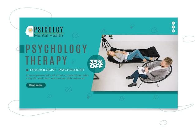 Sjabloon voor spandoek van psychologie Premium Vector