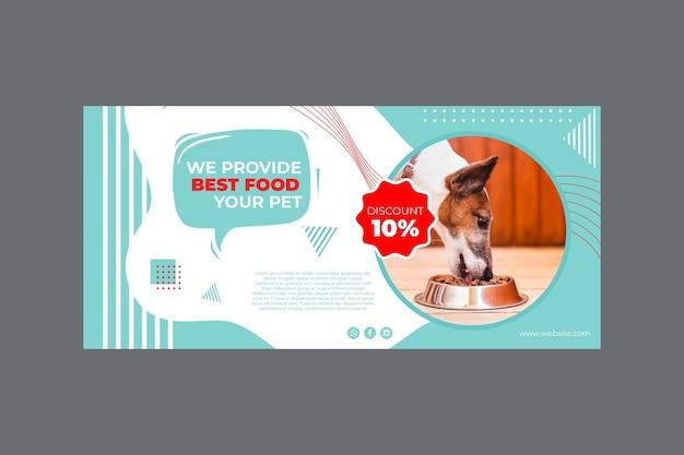 Sjabloon voor spandoek van voedsel voor huisdieren met foto Gratis Vector
