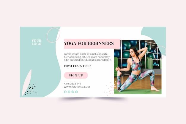 Sjabloon voor spandoek yogales Gratis Vector