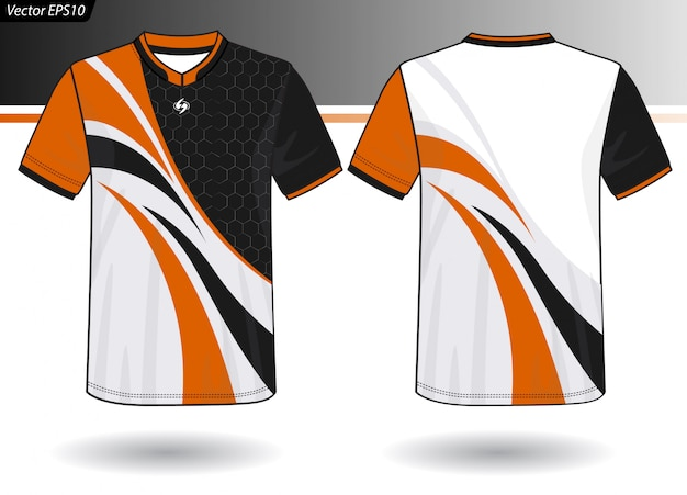 Sjabloon voor sport-jersey voor teamuniformen Premium Vector