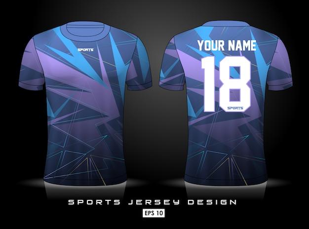 Sjabloon voor sport-jersey Premium Vector