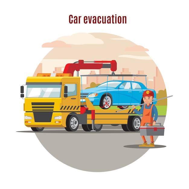 Sjabloon voor transportevacuatiedienst Gratis Vector