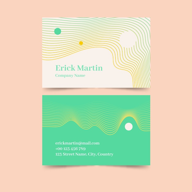 Sjabloon voor visitekaartjes abstract Gratis Vector