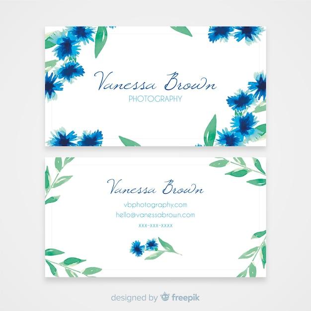 Sjabloon voor visitekaartjes aquarel Gratis Vector