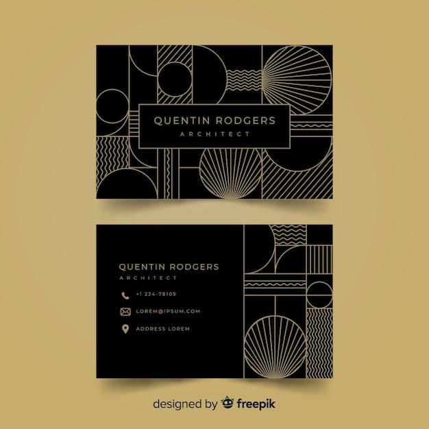 Sjabloon voor visitekaartjes in elegante stijl Gratis Vector