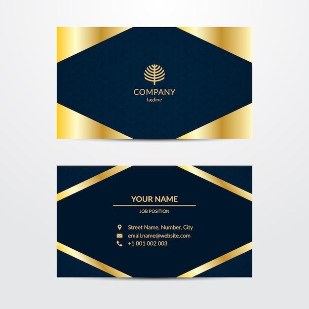 Sjabloon voor visitekaartjes in luxe stijl Gratis Vector