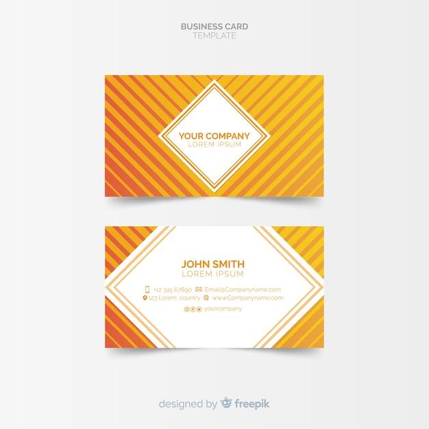 Sjabloon voor visitekaartjes met abstracte vormen Premium Vector