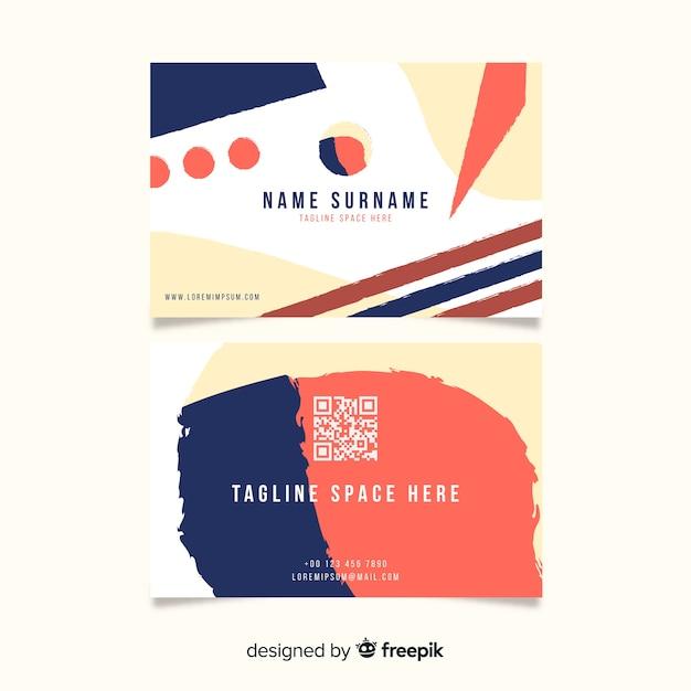 Sjabloon voor visitekaartjes met abstracte vormen Gratis Vector