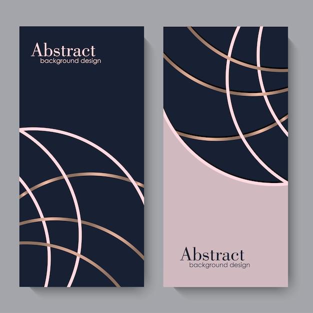 Sjabloon voor visitekaartjes met geometrische elementen Gratis Vector