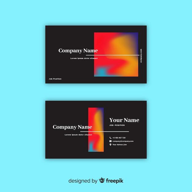 Sjabloon voor visitekaartjes met kleurovergang Gratis Vector