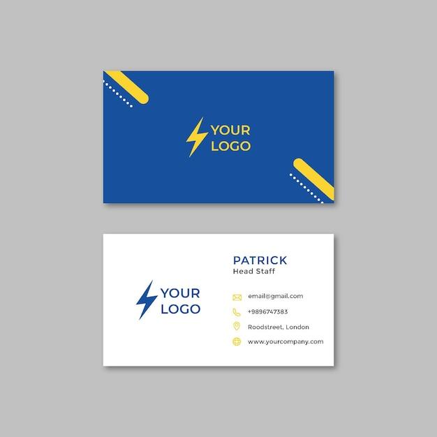 Sjabloon voor visitekaartjes van elektricien Premium Vector