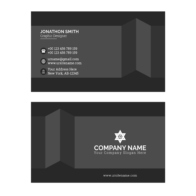 Sjabloon voor visitekaartjes Premium Vector