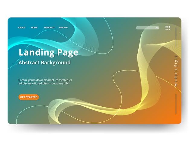 Sjabloon voor weblandingspagina, banner, presentatie Premium Vector