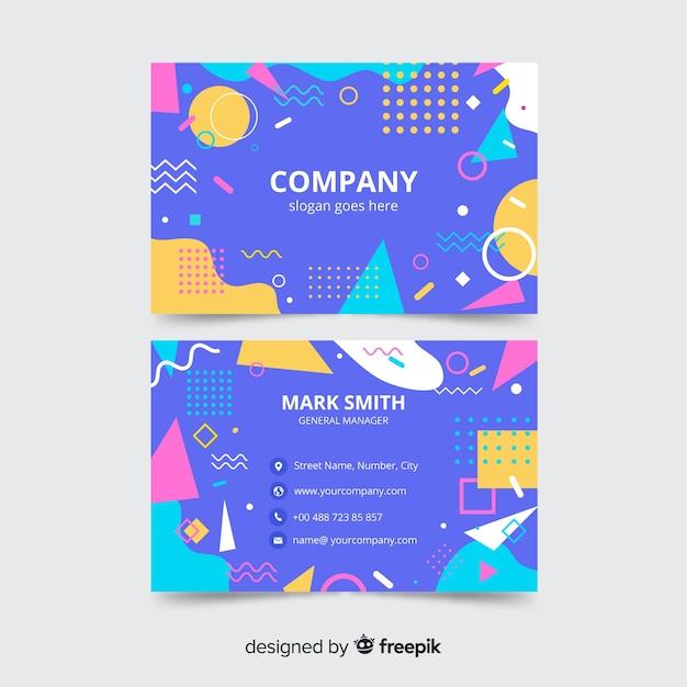 Sjabloon voor zakelijk visitekaartjes, voor- en achterkant ontwerp Gratis Vector