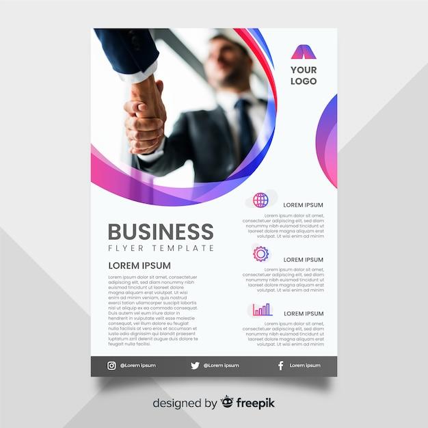 Sjabloon voor zakelijke flyer met foto Gratis Vector