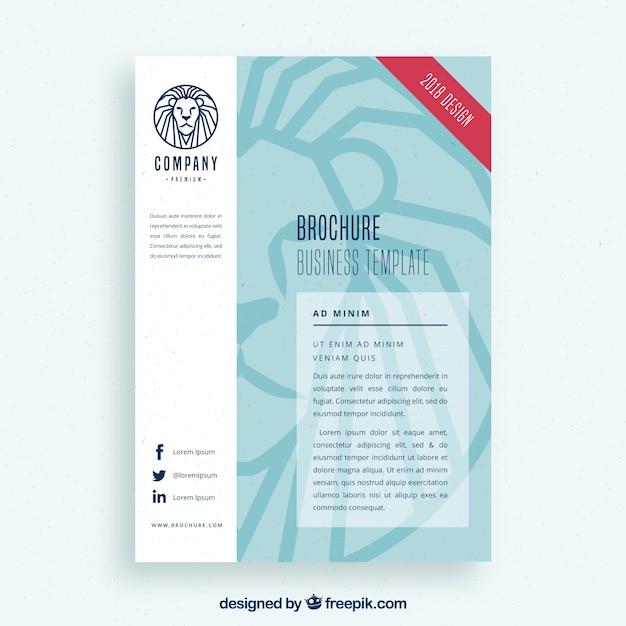 Sjabloon voor zakelijke flyer met leeuw-logo Gratis Vector