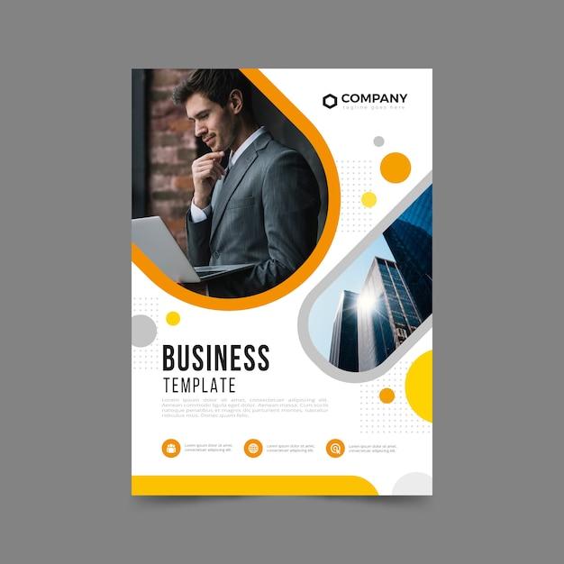 Sjabloon voor zakelijke folders met foto Gratis Vector