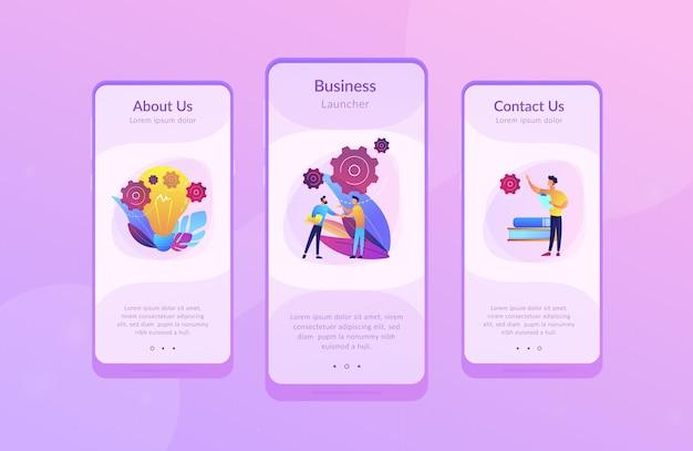 Sjabloon voor zakelijke ide-app-interfaces Premium Vector