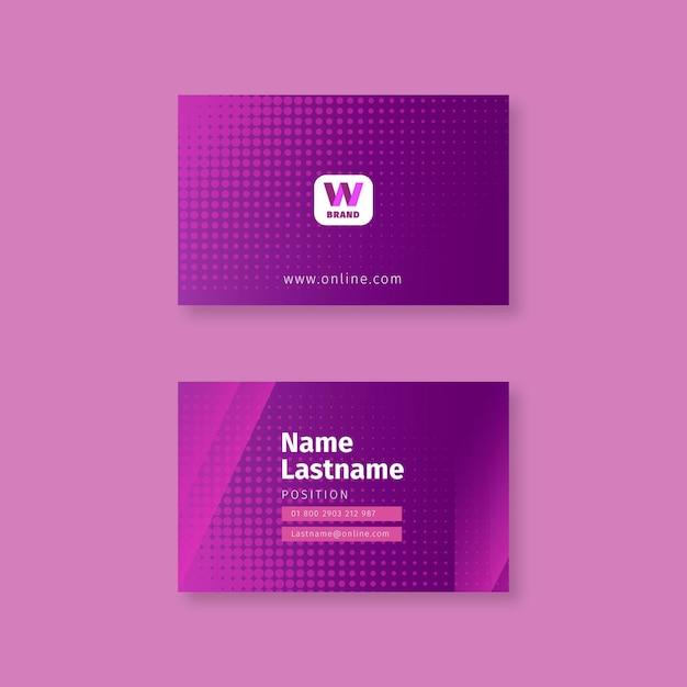 Sjabloon voor zakelijke vrouw visitekaartjes Premium Vector