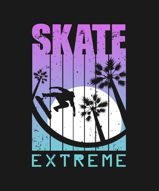 Skate extreme sport illustratie Premium Vector