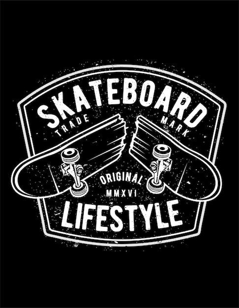 Skateboard lifestyle Premium Vector