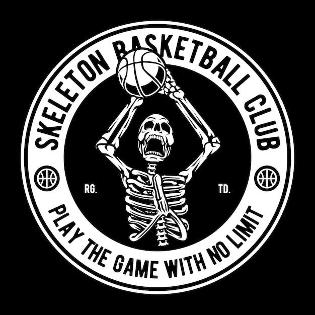 Skelet basketball club Premium Vector