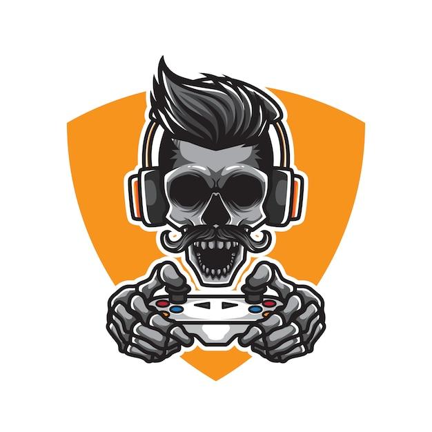 Skull gamers illustratie Premium Vector