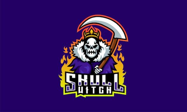 Skull witch esports-logo Premium Vector
