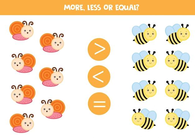 Slakken en bijen tellen Premium Vector