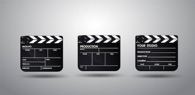 Slate of director film collection. illustratie vector eps10. Premium Vector