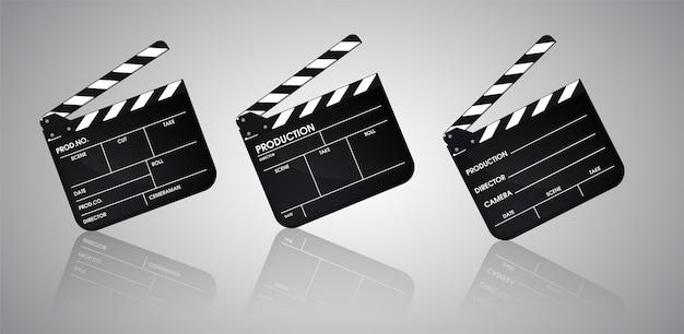 Slate of director film collection. illustratie vector eps10. Premium Vector