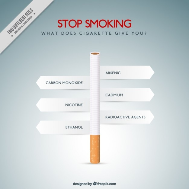 Slechte gewoonten van het roken Gratis Vector