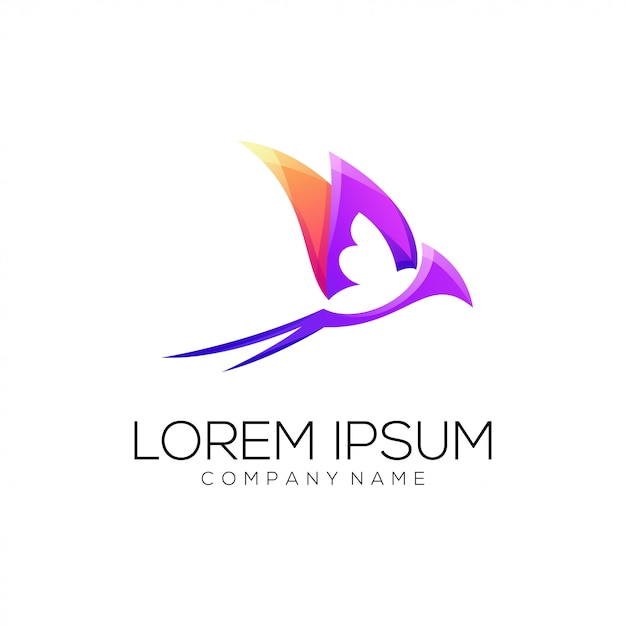 Slik logo abstract Premium Vector