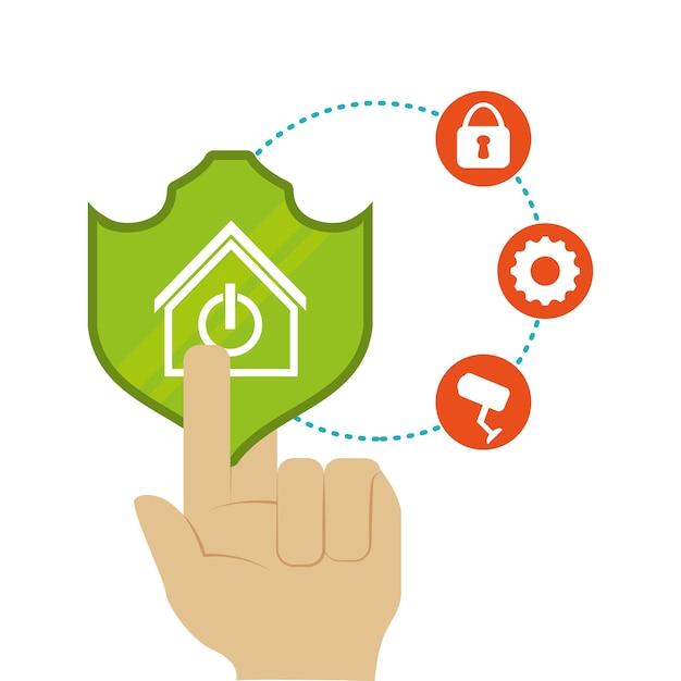 Slimme huis huis pictogramserie Premium Vector